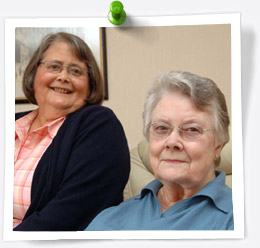 Joan and Betty Whyteside, 2008