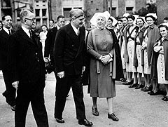Welsh Labour politician Aneurin Bevan with a group of nurses on the day that the National Health Service came into being, 5th July 1948. 